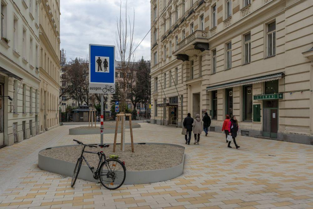 Fußgängerzone in der Königsegggasse, Wien-Mariahilf