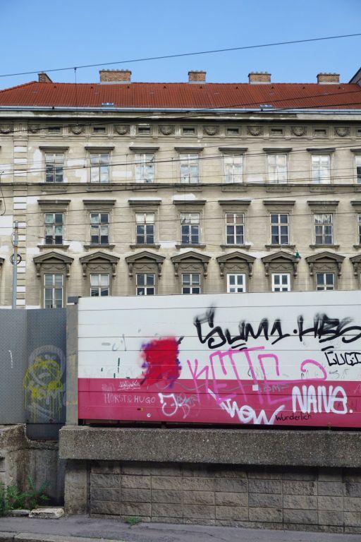 Bahntrasse und Haus Hetzgasse 8, Wien-Landstraße, Weißgerberviertel