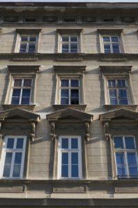 Fassade des Hauses Hetzgasse 8, Wien-Landstraße, Weißgerberviertel