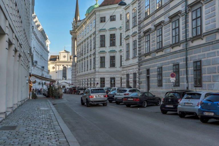 Schauflergasse Richtung Michaelerplatz, Hofburg, Wien