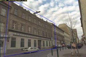 Gründerzeithaus in der Wallgasse 17, später abgerissen, Foto von 1997, Wien-Mariahilf