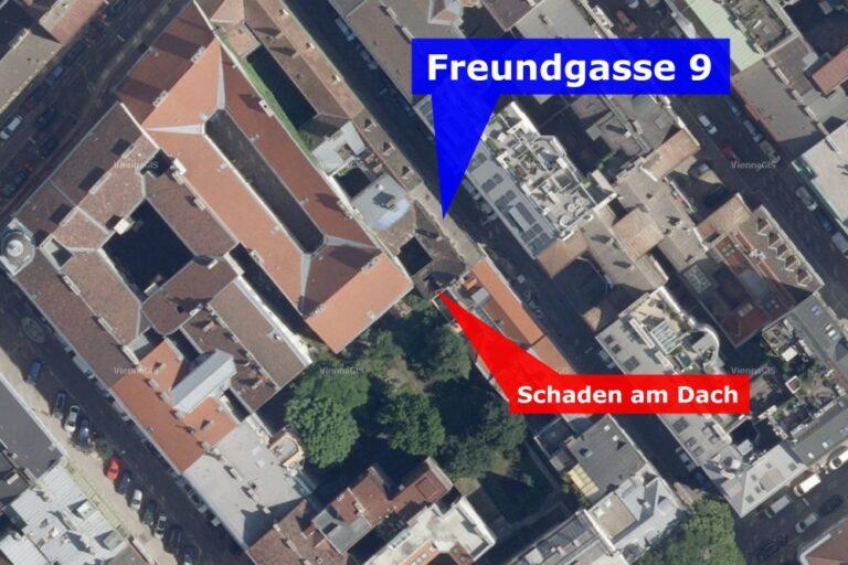 Freundgasse 9, Satellitenbild, Margaretenstraße, Wieden, Wien