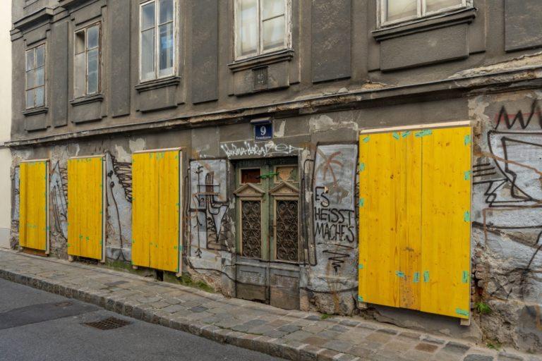 denkmalgeschütztes Gebäude Freundgasse 9, Wien-Wieden