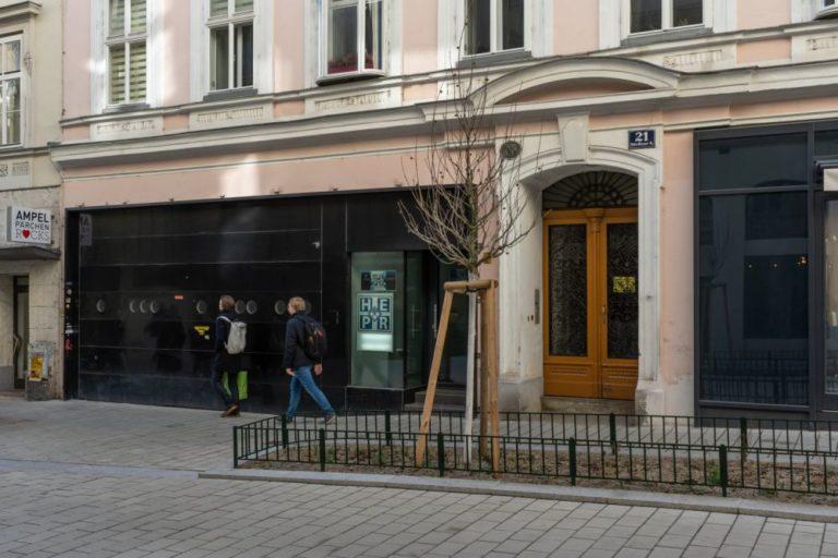 Garageneinfahrt des Gebäudes Otto-Bauer-Gasse 21, 1060 Wien