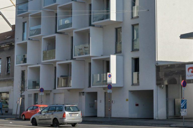 Wagramer Straße 110, Neubau nach Abriss eines Gründerzeithauses, 22. Bezirk, Wien