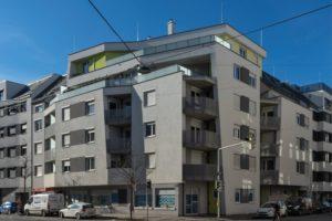 Wagramer Straße 123, Wohnhaus, Neubau nach Abriss eines Gründerzeithauses, Wien-Donaustadt