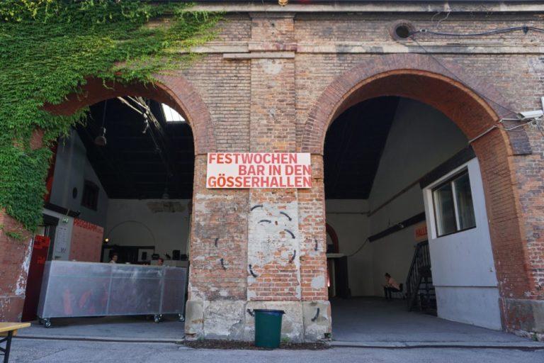 Gösserhalle während der Wiener Festwochen 2019, 10. Bezirk, Wien