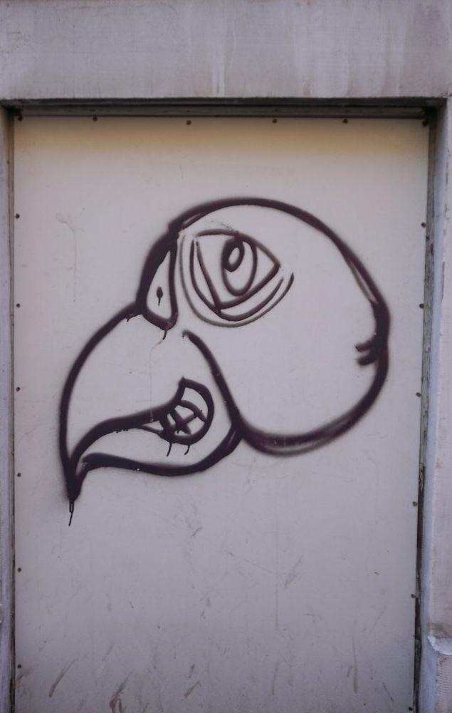 Graffito im Fasanviertel