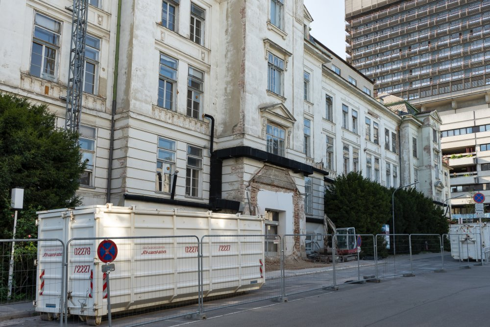 Abriss der historischen I. Medizinischen Klinik beginnt, AKH, Wien-Alsergrund