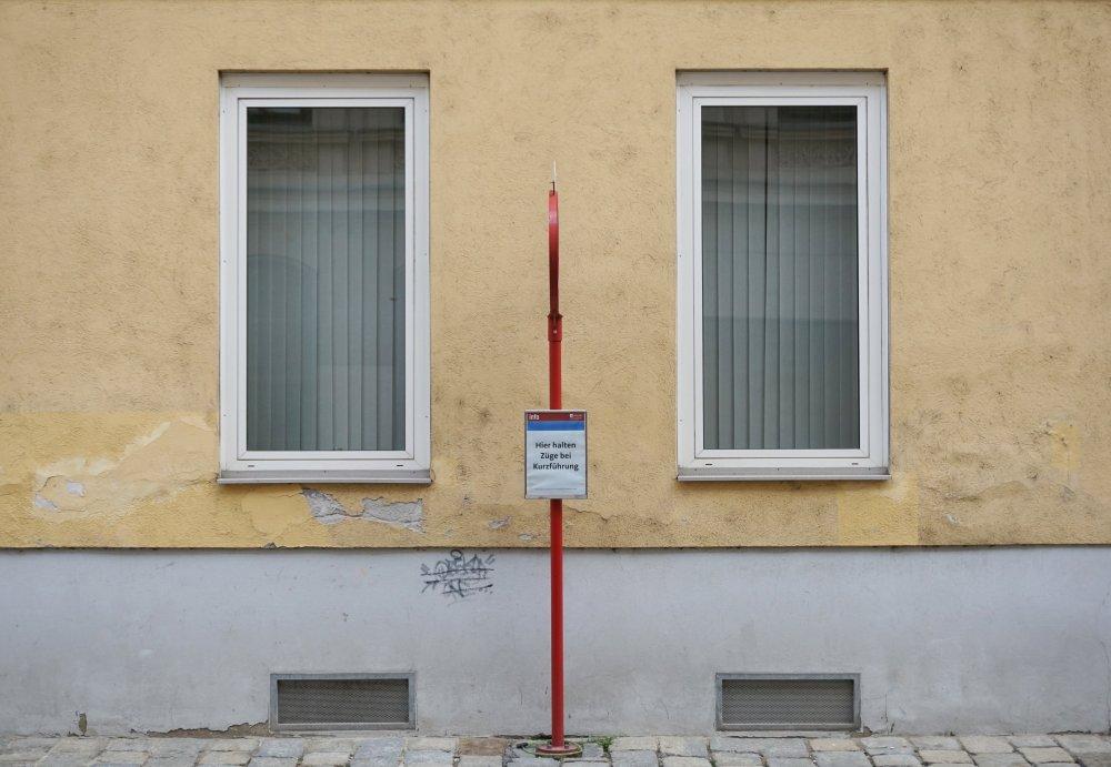 Straßenbahnhaltestelle im Radetzkyviertel, Wien, 3. Bezirk