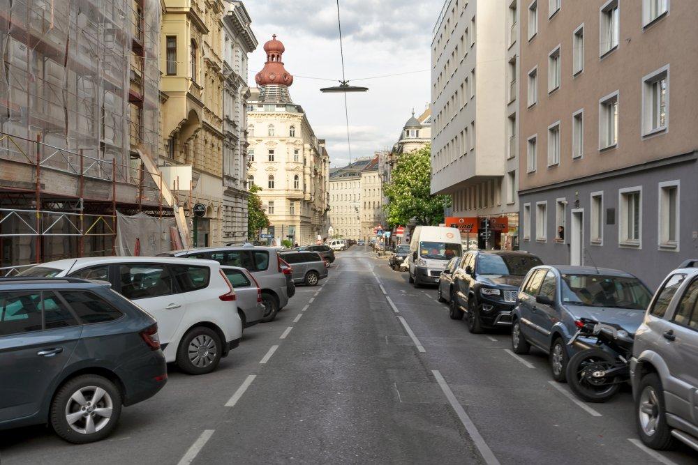 Florianigasse in Richtung Bennoplatz,, Straße, Autos, Wien
