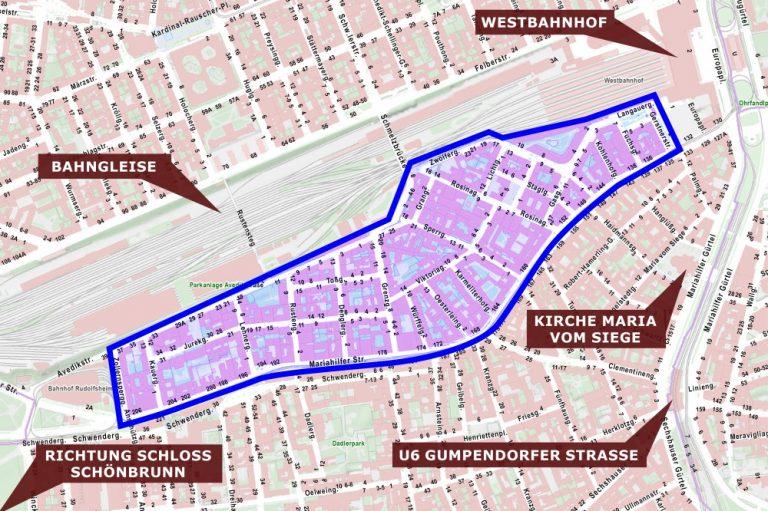 Rudolfsheim-Fünfhaus, Karte