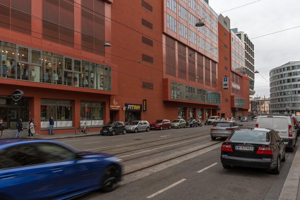 Invalidenstraße, beim Gebäudekomplex Wien Mitte: unattraktiver Stadtraum in zentraler Lage (Foto: 2020)