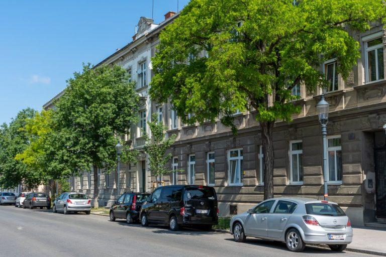 Jahrhundertwendehäuser am Leopoldauer Platz Nr. 45-47 (Foto: 2020)