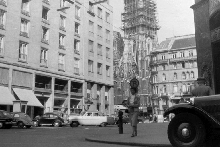 Graben, Stephansdom, 1960, Autos, Haas-Haus, Wien