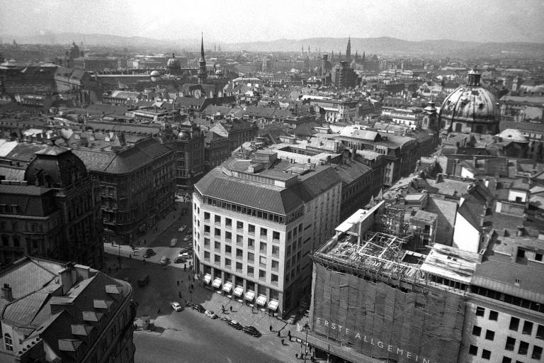 Stephansplatz und Graben in den 1950ern, Haas-Haus, Wien