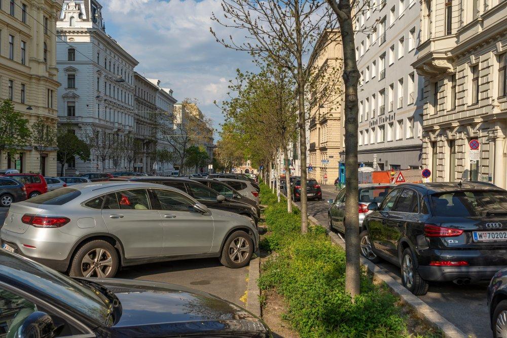 Kolingasse, zwischen Votivkirche und Donaukanal (Foto: 2020)