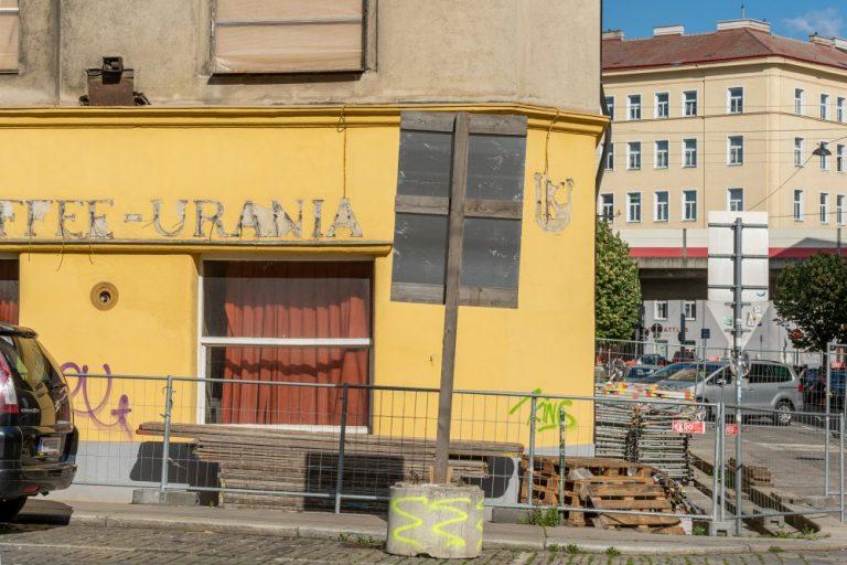 ehemaliges Kaffee Urania in der Radetzkystraße, Baustelle, Abbruchhaus, Wien, Landstraße