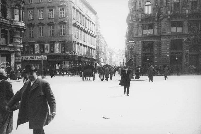 Stock im Eisen-Platz im Jahr 1900
