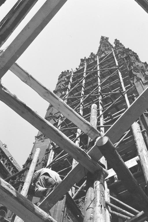 Südturm des Stephansdoms wird renoviert, nach dem 2. Weltkrieg, Wien