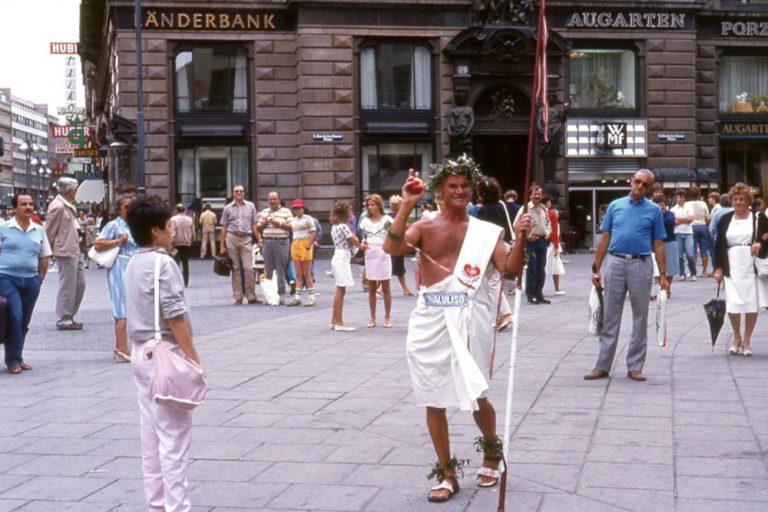 Waluliso am Stephansplatz im Jahr 1982
