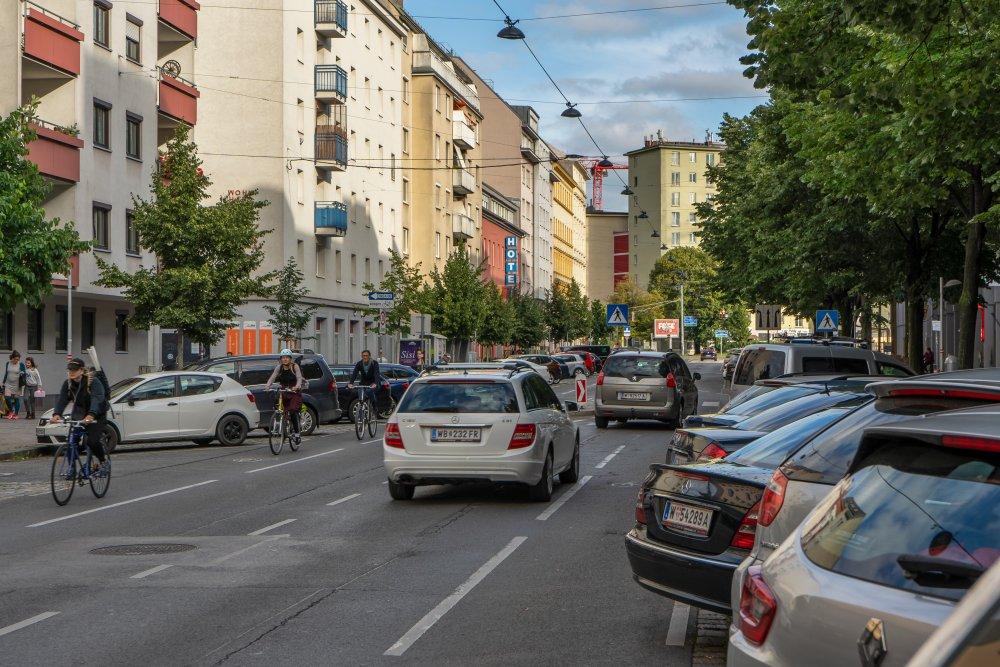 Landstraßer Hauptstraße bei der Schimmelgasse, Wien