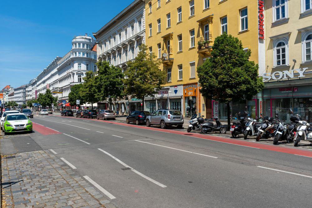 Landstraßer Hauptstraße, Messenhausergasse, Fahrbahn, Wien