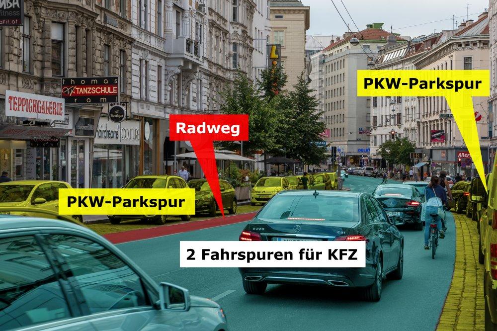 öffentlicher Raum und Verkehr auf der Landstraßer Hauptstraße, 3. Bezirk, Wien