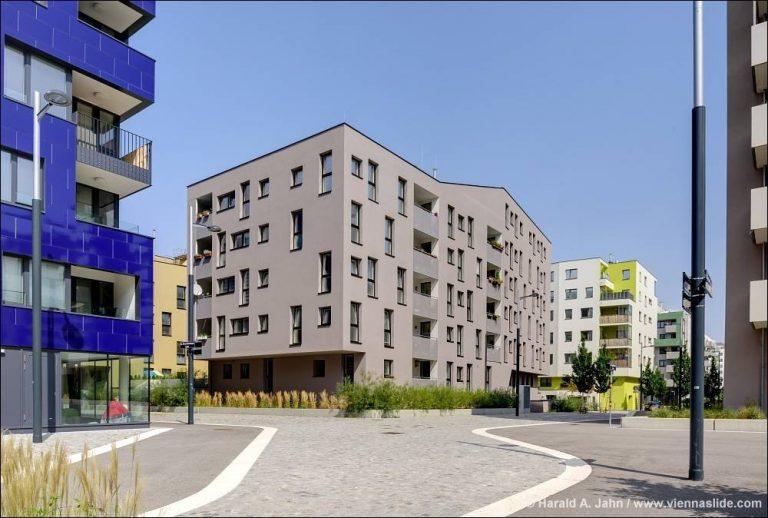 Öffentlicher Raum in der Seestadt Aspern (2017, © Harald A. Jahn / viennaslide.com)