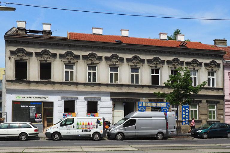 Gründerzeithaus in der Wagramer Straße wird abgerissen, Wien, Donaustadt