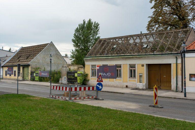Abriss zweier Häuser am Leopoldauer Platz, Wien-Floridsdorf