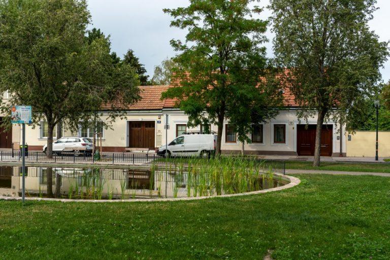 Teich am Leopoldauer Platz (Foto: 2020)