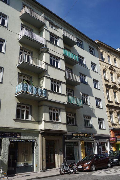 Wohnhaus aus der Zeit des Ständestaats/Austrofaschismus in der Gumpendorferstraße 78, Wien-Mariahilf, ersetzt Altbau (abgerissen)