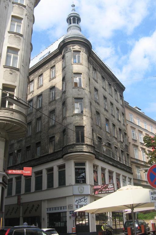 desolates Haus am Bauernmarkt 21, Fleischmarkt, Jugendstil, Wien, Innere Stadt