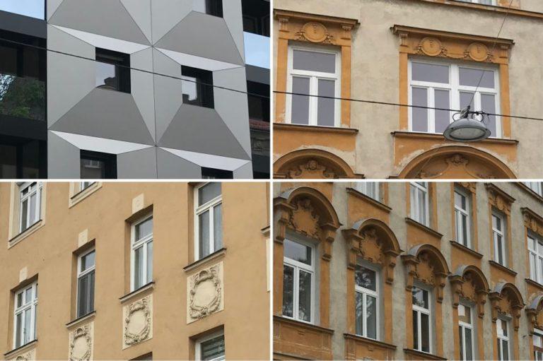 Fenstertypen von zwei Altbauten und einem Neubau in Wien-Ottakring