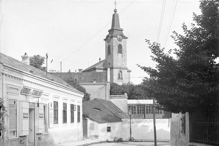 historische Aufnahme von Kalksburg, Pfarrkirche, Liesing, Wien