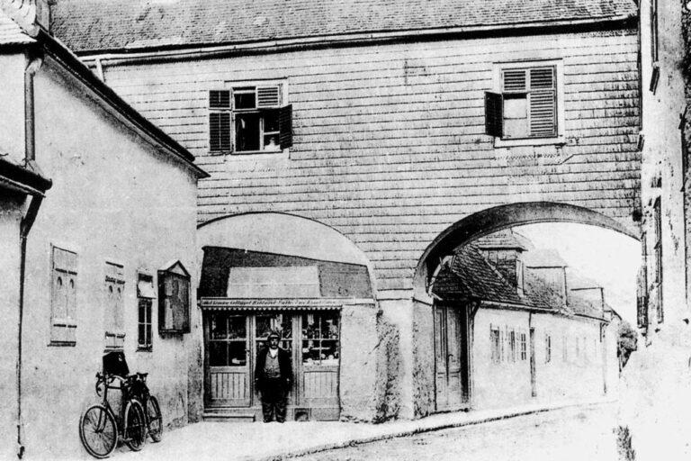 Kalksburg, Bogen, Breitenfurter Straße, historische Fotoaufnahme, Liesing, Wien