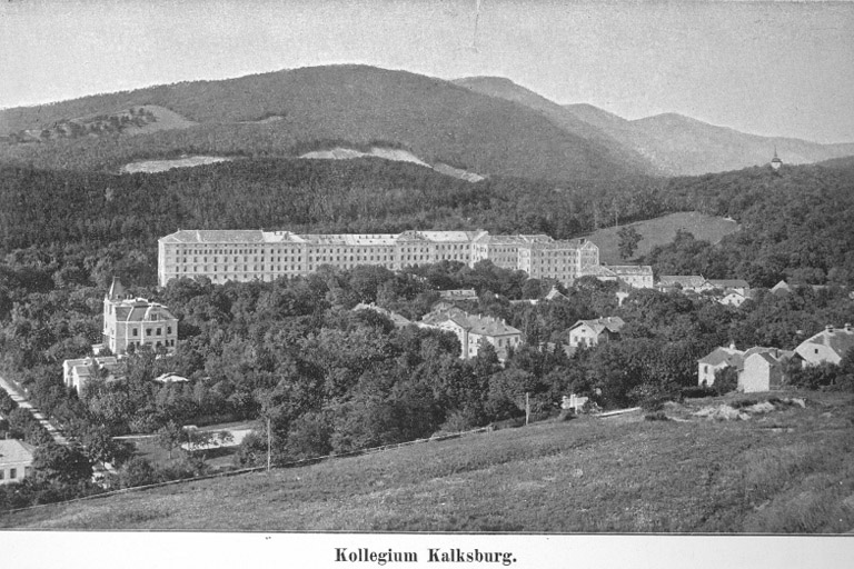 historische Aufnahme von Kalksburg, Kollegium Kalksburg, Liesing, Wien
