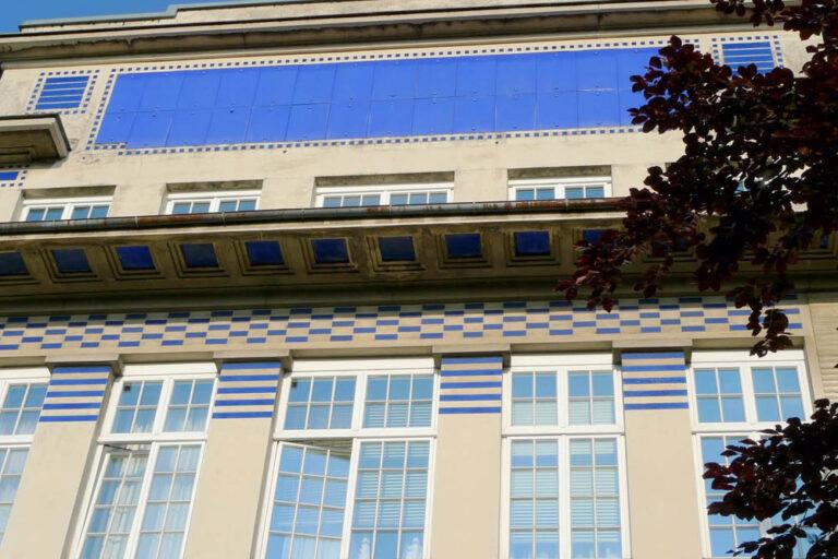 Fassadendetail einer Klinik von Otto Wagner, Wien
