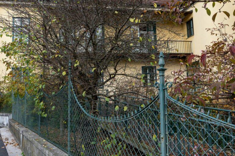 Mackschlössl, Zaun, Bäume, Sträucher, Kalksburg, Pflegeheim Caritas Socialis, Liesing, Wien