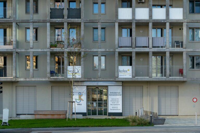 Fassade, Gitter, Gebäude, Sonnwendviertel, Wien