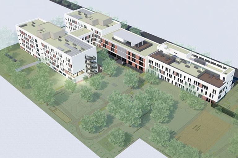 Neubau Anton-Proksch-Institut, Rendering, Kalksburg, Liesing, Wien
