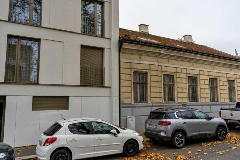 Altbau und Neubau in der Weinzingergasse, 1190 Wien