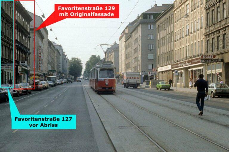Favoritenstraße in den 1980ern, 10. Bezirk, Wien