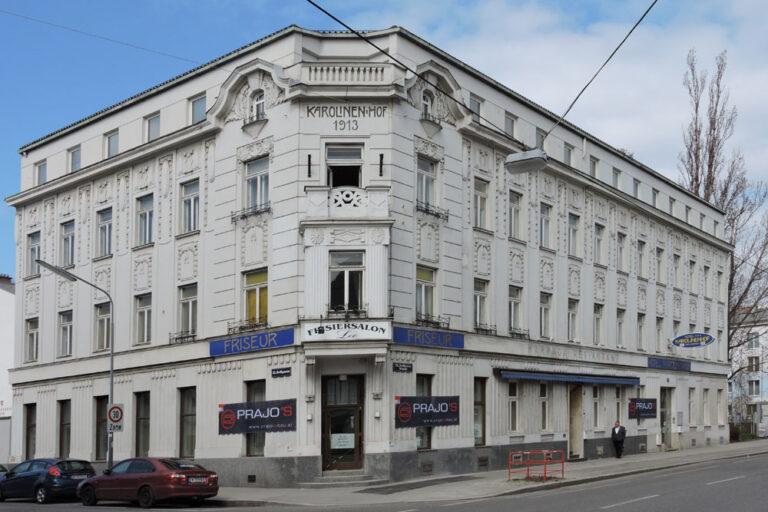 Hotel Karolinen-Hof vor dem Abriss, 2018, Jedlesee, Floridsdorf, Wien