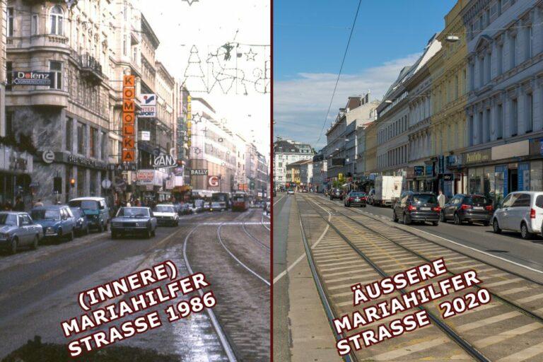 Fotos von der inneren und äußeren Mariahilfer Straße