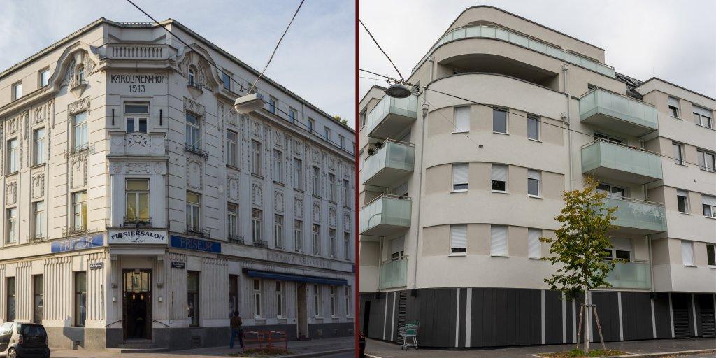 Hotel Karolinenhof vor dem Abriss und Neubau, Jedlesee, Floridsdorf