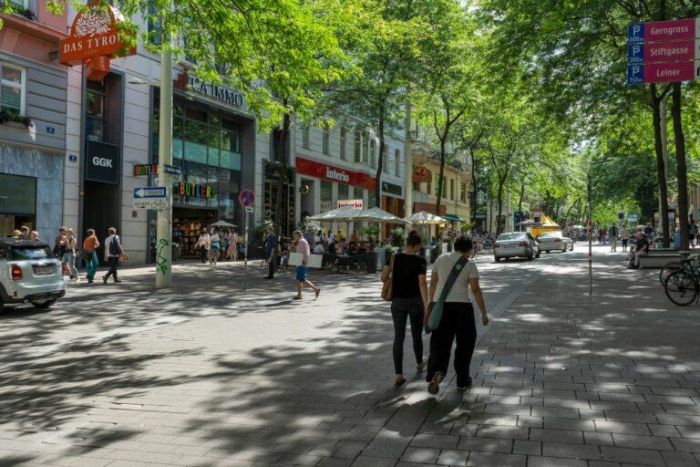 Begegnungszone in der Mariahilferstraße, Königsklostergasse, Wien