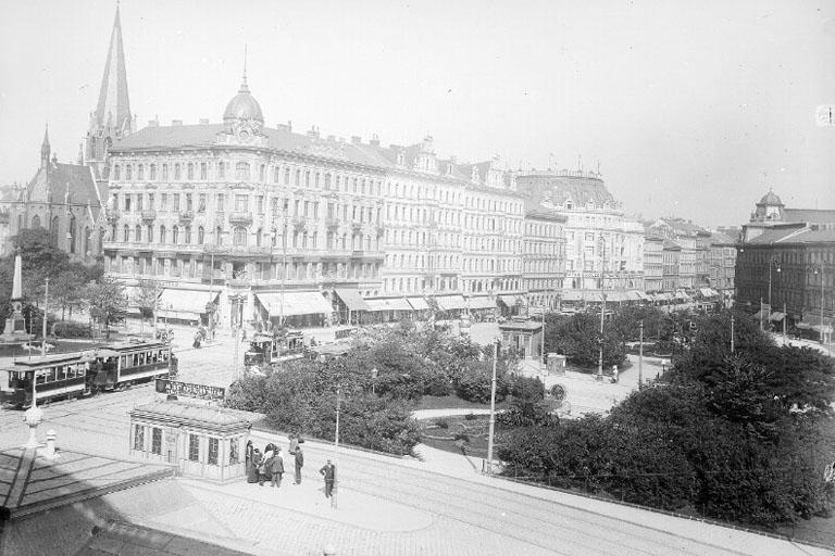 Mariahilfer Gürtel mit Straßenbahngleisen, Mariahilfer Straße, Neubaugürtel, Wien