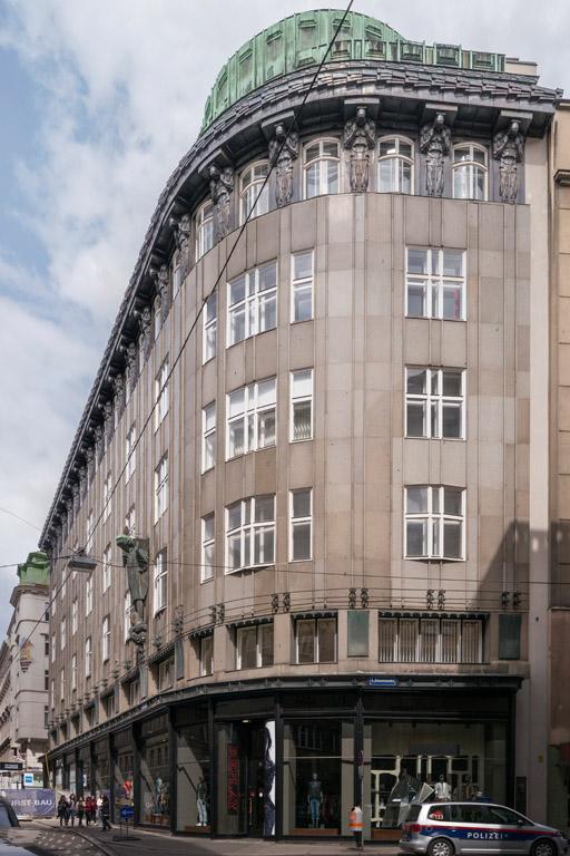 """Gebäude entworfen von Josef Plečnik, """"Zacherlhaus"""", Wildpretmarkt 2-4, Wien, Innere Stadt"""